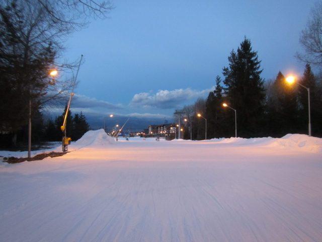 вечер на горнолыжном курорте
