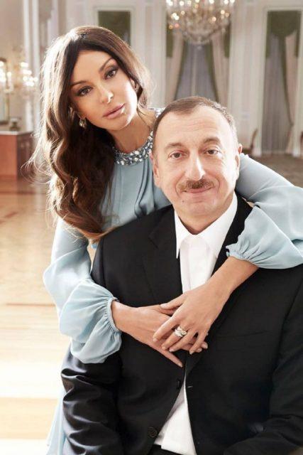Мехрибан Алиева с мужем
