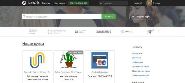 stepik платформы для обучения онлайн