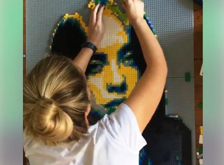 Американская девушка создает потрясающие портреты знаменитостей из LEGO