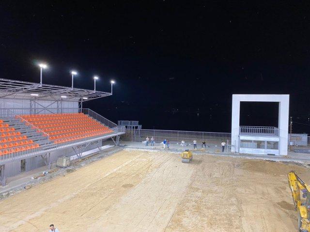 В парке La Izvor в скором времени начнет функционировать пляжный стадион