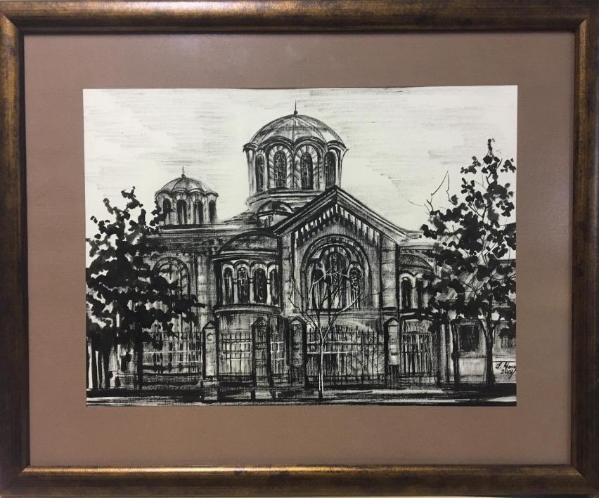 Церковь Святого Пантелеймона, Графика Марии Скляренко