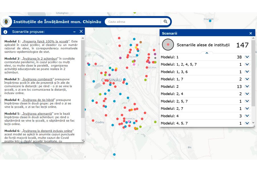 В Кишиневе создан сайт, где можно узнать о моделях обучения в столичных школах