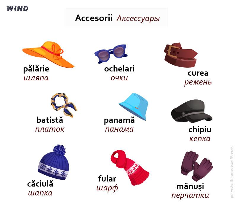 румынский язык, la magazin de haine, accesorii