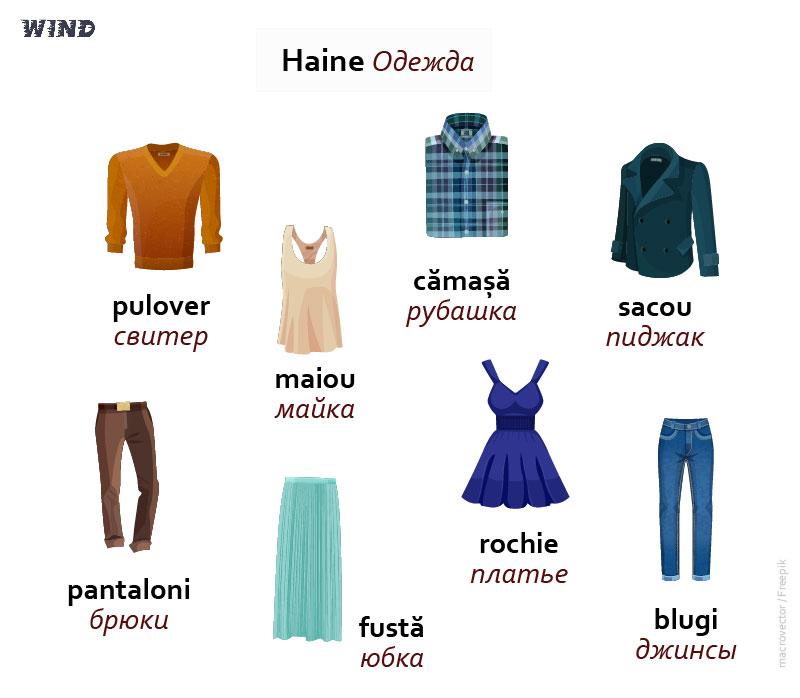 румынский язык, la magazin de haine