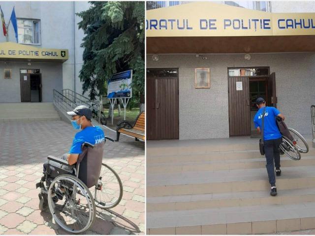 Парень, просящий милостыню на инвалидной  коляске, неожиданно излечился при задержании