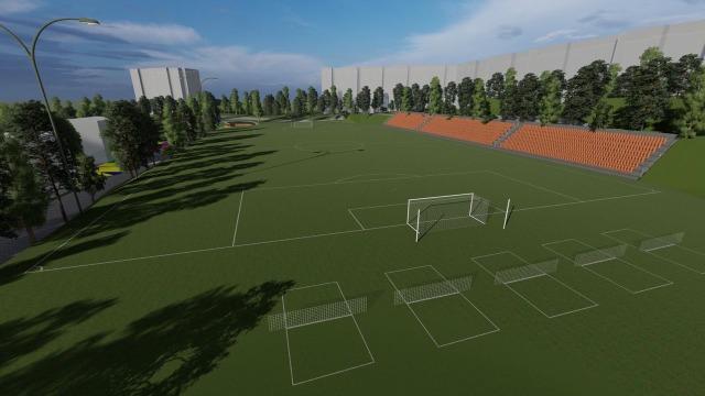 В Кишиневе создадут новую футбольную академию. Фото проекта