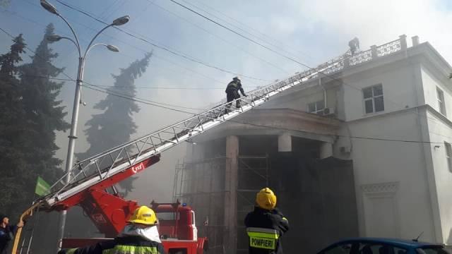 Пожар в здании Национальной филармонии