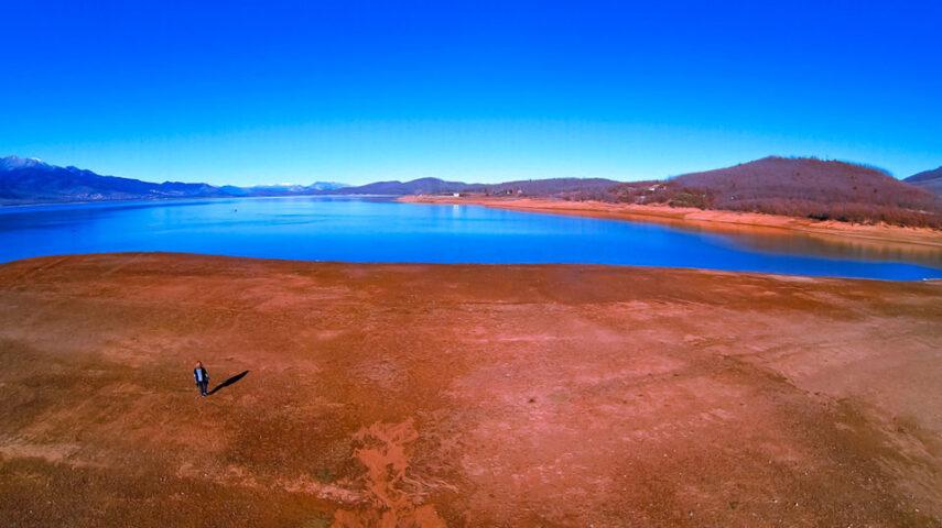 Греция, озеро Пластира, фото с дрона