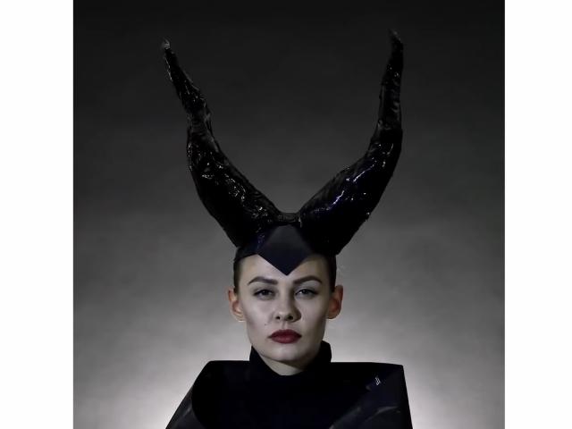 костюм на Хэллоуин из подручных материалов, Малефисента