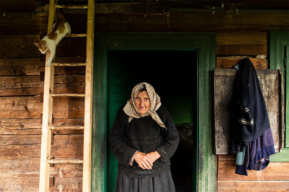Фотограф Влад Думитреску, бабушка