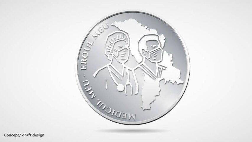 дизайн памятной монеты, посвященной врачам, 2020 год