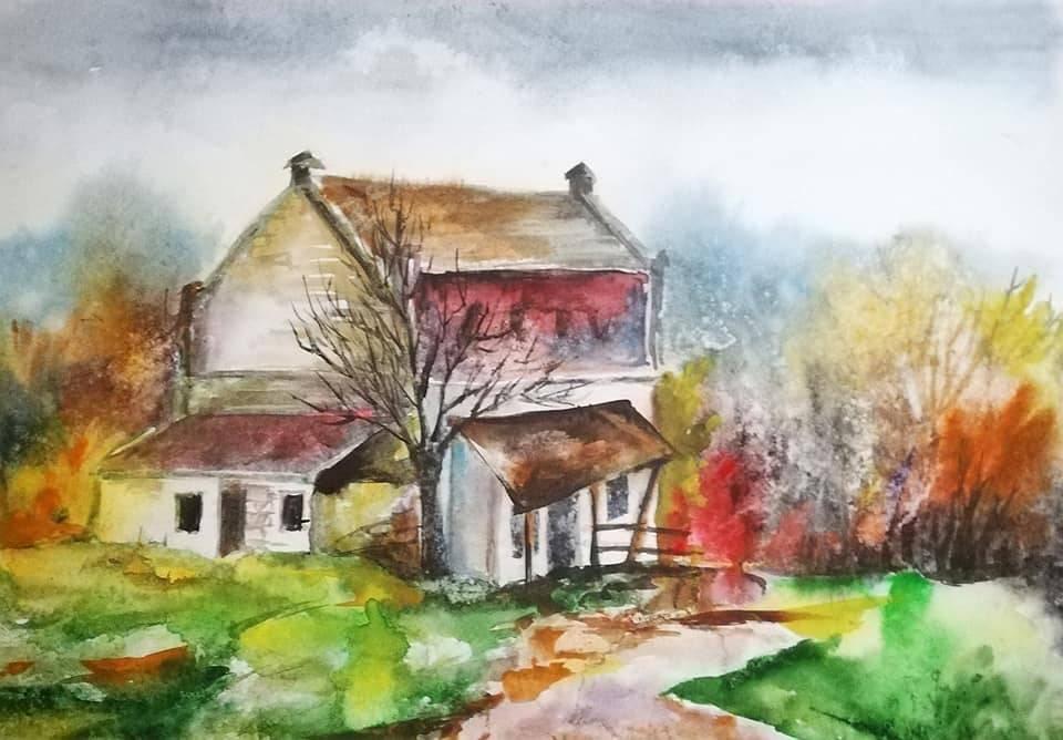 Молдавская осень в уютных акварелях Анны Прониной - 3