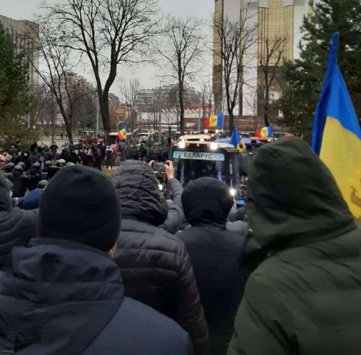 Протест фермеров в Кишиневе.