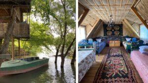 Домики на деревьях с видом на Днестр. Пансионат Meșter Faur — удивительное место в Молдове.